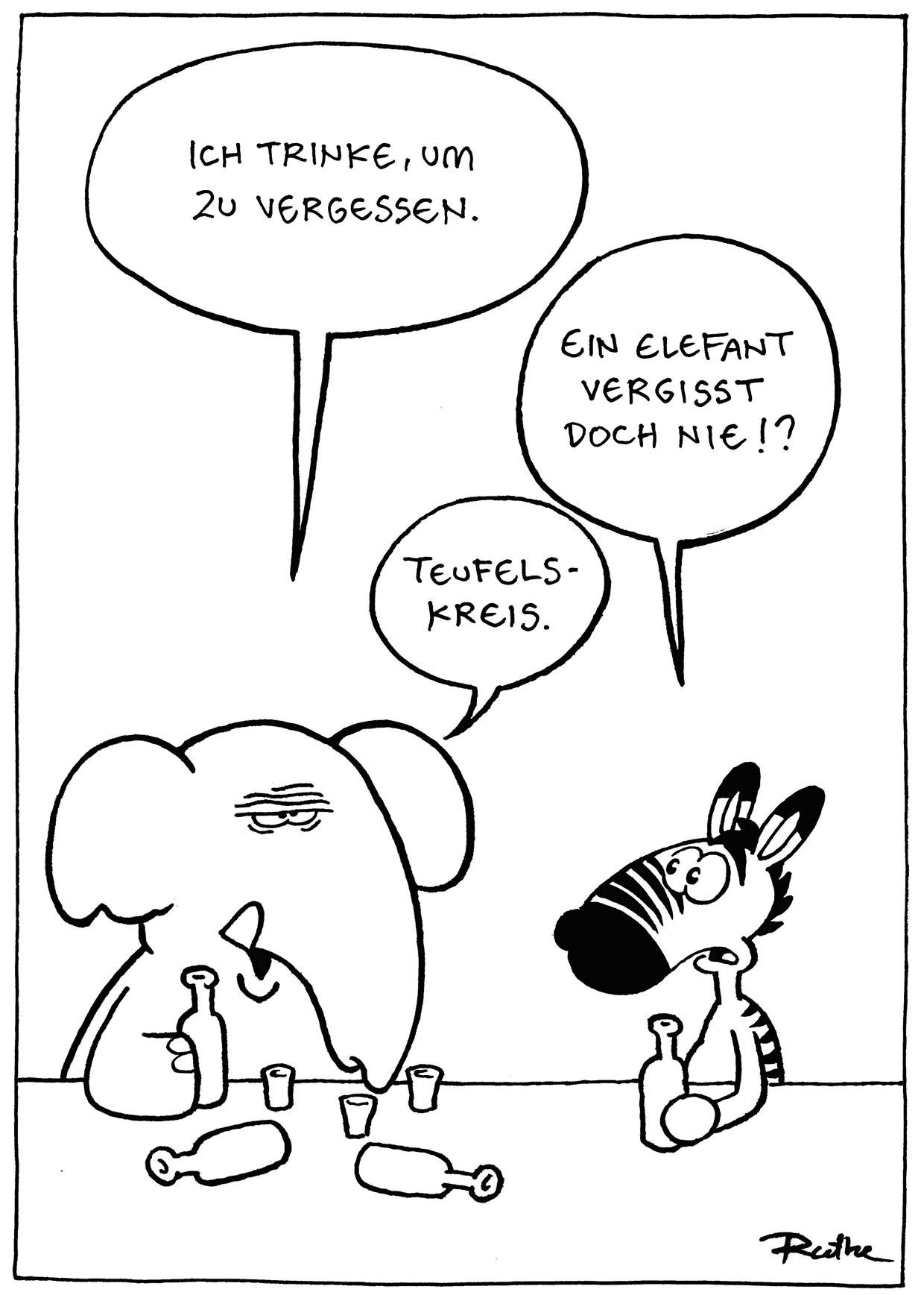 Cartoon von Ralph Ruthe